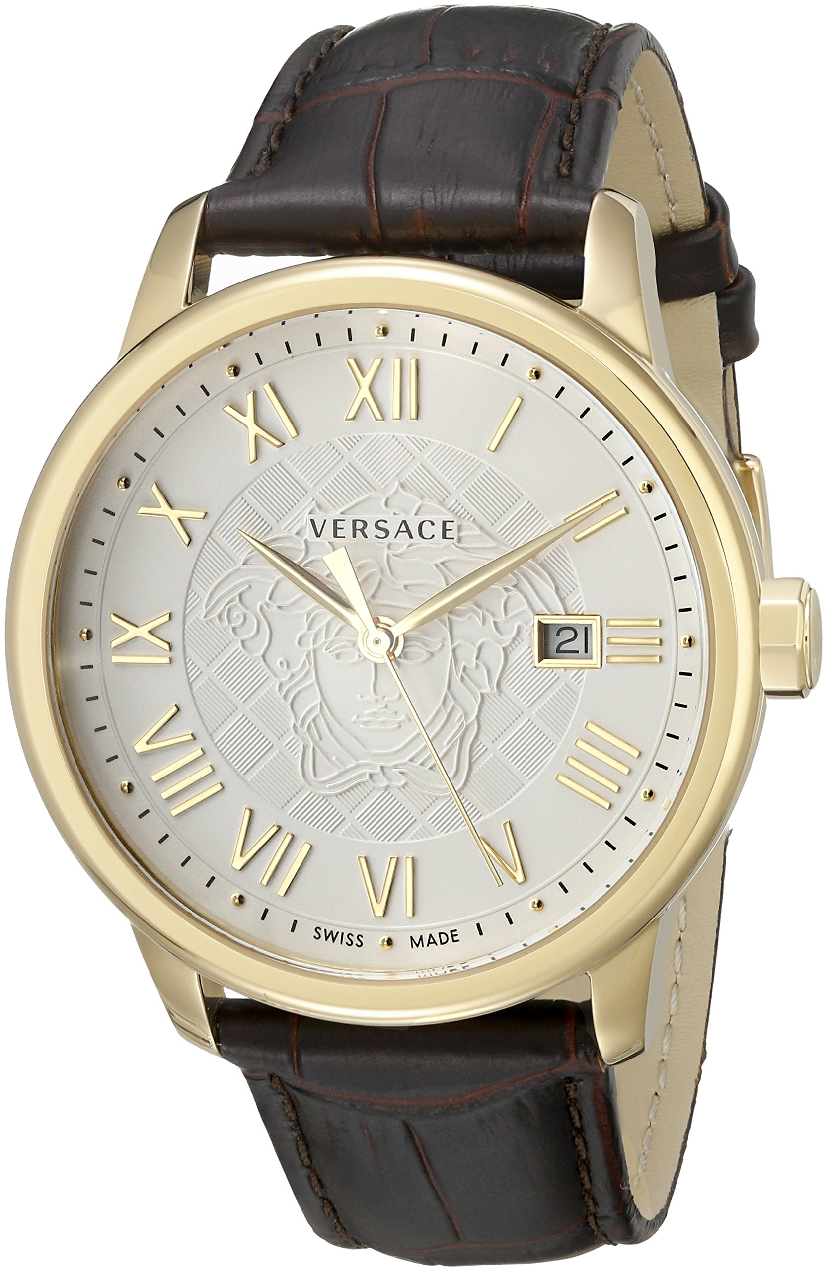 Versace Men's VQS030015 Business Analog Display Quartz Brown Watch by Versace