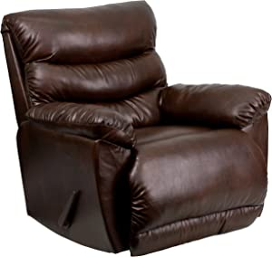 Flash Furniture Contemporary Tonto Espresso Bonded Leather Rocker Recliner