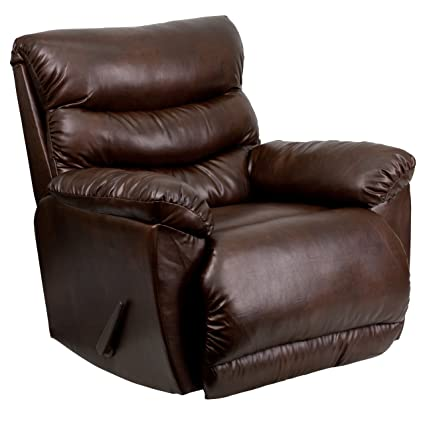Astounding Flash Furniture Contemporary Tonto Espresso Bonded Leather Rocker Recliner Caraccident5 Cool Chair Designs And Ideas Caraccident5Info
