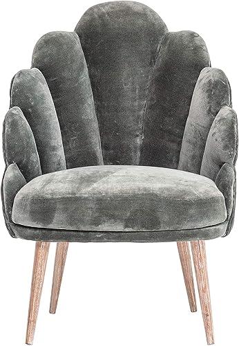 Bloomingville AH0350 Velvet Chair, Grey