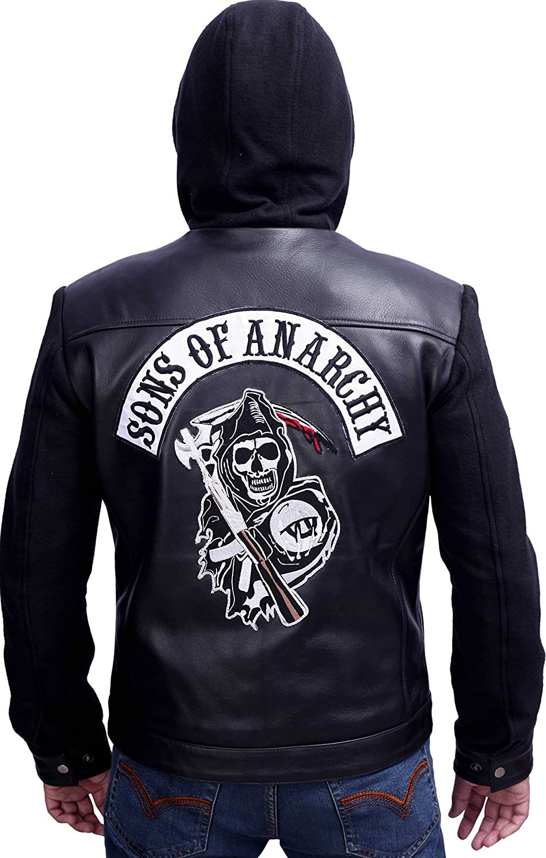 Sons Of Anarchy Black Leather Highway Jacket Amazon Co Uk Clothing