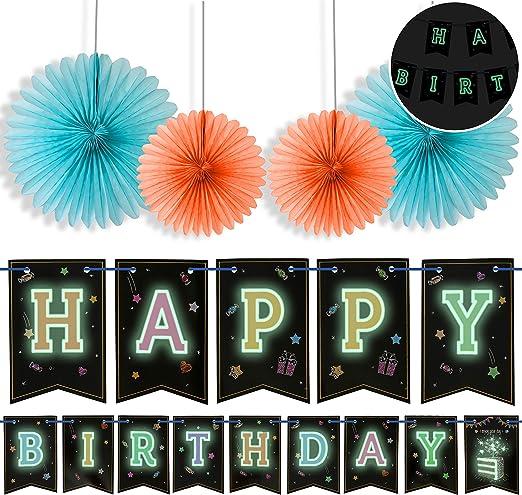 Amazon.com: Banderín de cumpleaños con 4 ventiladores ...