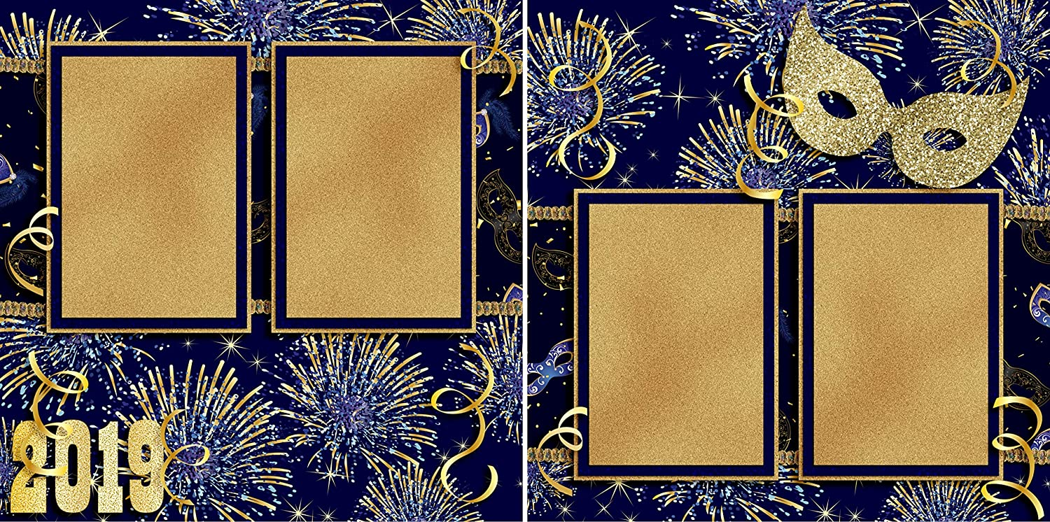 Masquerade 2019 EZ Layout 3682 Premade Scrapbook Pages