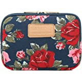 Kayond 8 Inch Water-resistant CanvasTablet Sleeve for iPad mini/Storage Charger(peony)