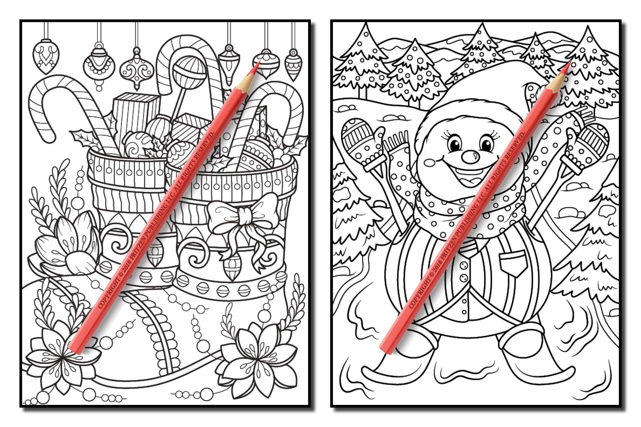 christmas coloring book an adult coloring book with fun easy and relaxing coloring pages volume 2 jade summer 9781730929007 amazoncom books