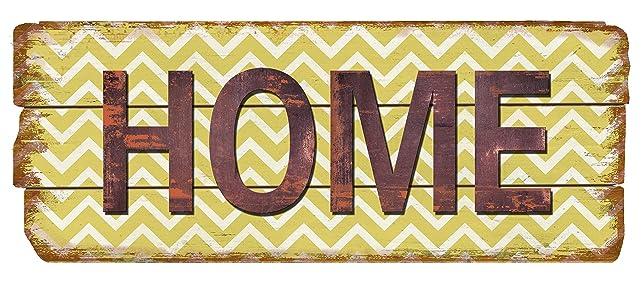 Amazon.com: Country Farm Decor Home Chevron Wood Sign Rustic Plaque ...