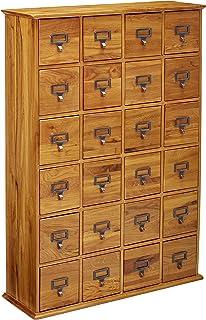LDE LESLIE DAME Leslie Dame CD-456 Solid Oak Library Card File Media Cabinet   sc 1 st  Amazon.com & Amazon.com: Leslie Dame 288 CD Storage Cabinet in Walnut: Kitchen ...