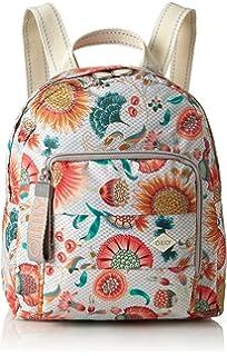 Oilily - Ruffles Sunflower Backpack Svz, Bolsos mochila Mujer, Blanco (Offwhite),