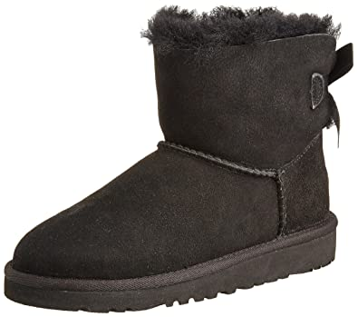 UGG Little Kids Mini Bailey Bow Boot Black Size 9 M US Toddler
