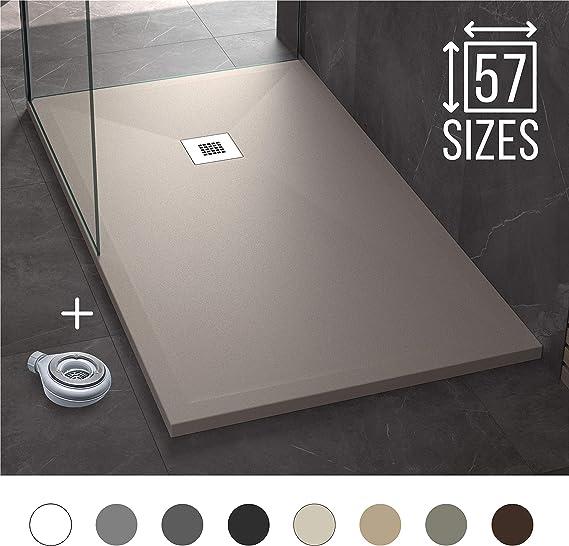 Plato de Ducha Resina Pizarra Stone 90 x 180 - Antideslizante y Rectangular - Todas las medidas disponibles - Incluye Sifón y Rejilla - Arena NCS S 3005-Y50R: Amazon.es: Bricolaje y herramientas