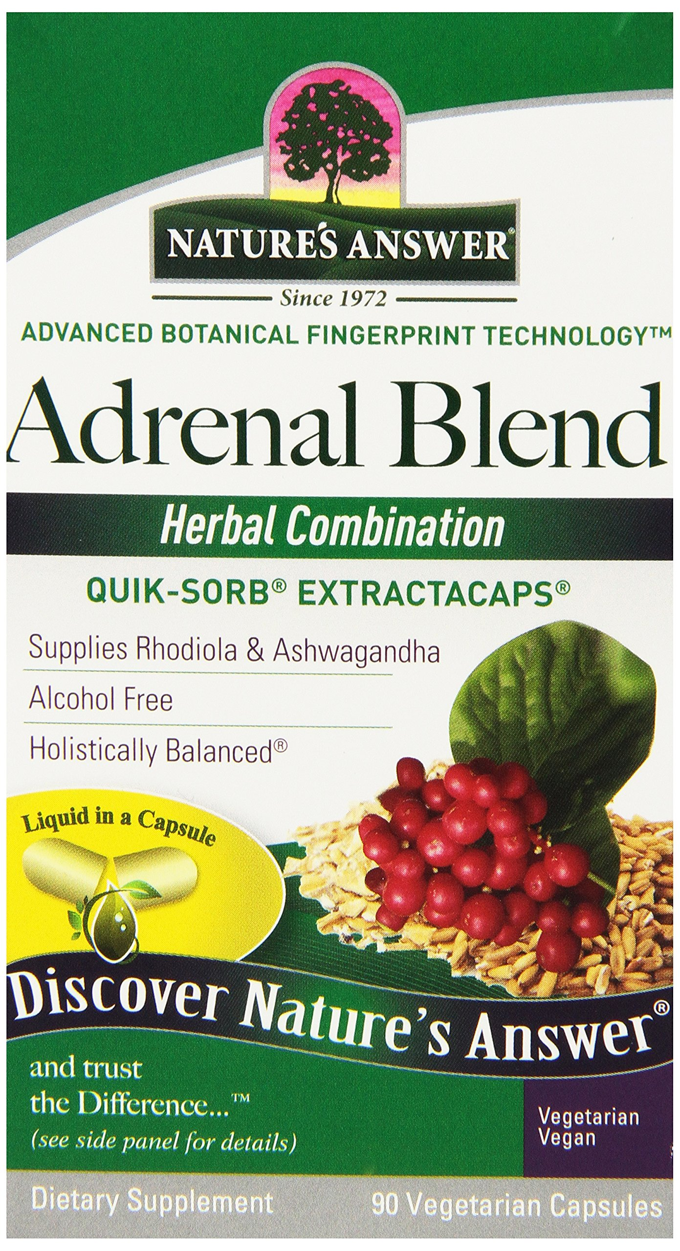 Nature's Answer Extractacaps Nutritional Supplement Adrenal Stress Away, 90 Count