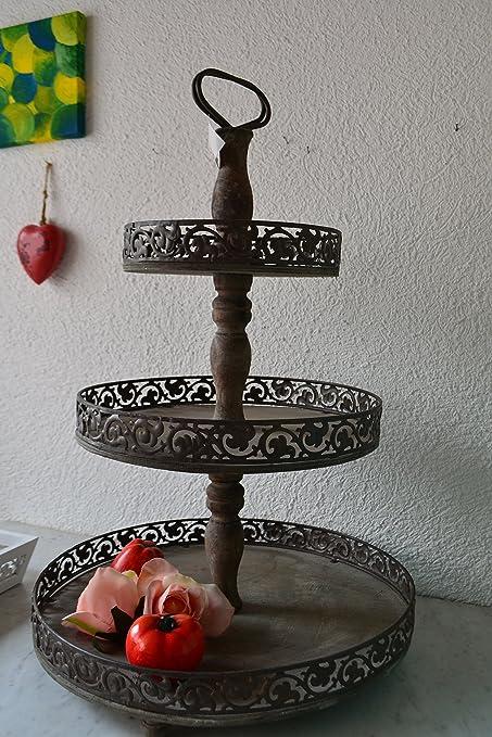 Bonita grandes práctica Etagere grande de madera y metal de 48 cm de – de 2