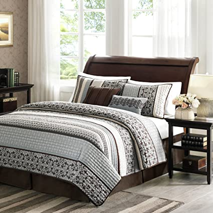 Madison Park Princeton 5 Piece Quilted Coverlet Set, King, Blue