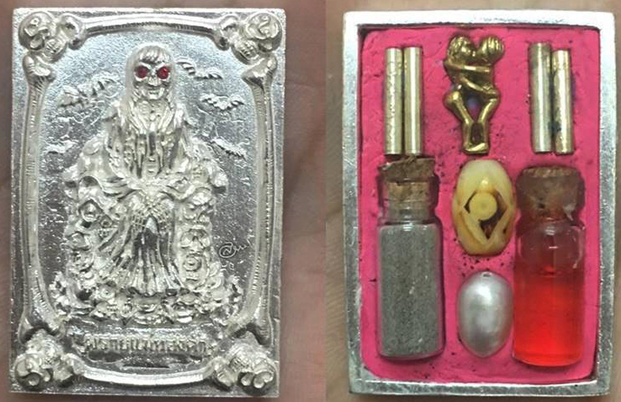 Good Luck Business Jewelry Magic Pendant Phrai Mae Tongkaam Naa Nah Tong Riagtraab Raabchock Amulet by Kruuba Subin by Amulet Land (Image #3)