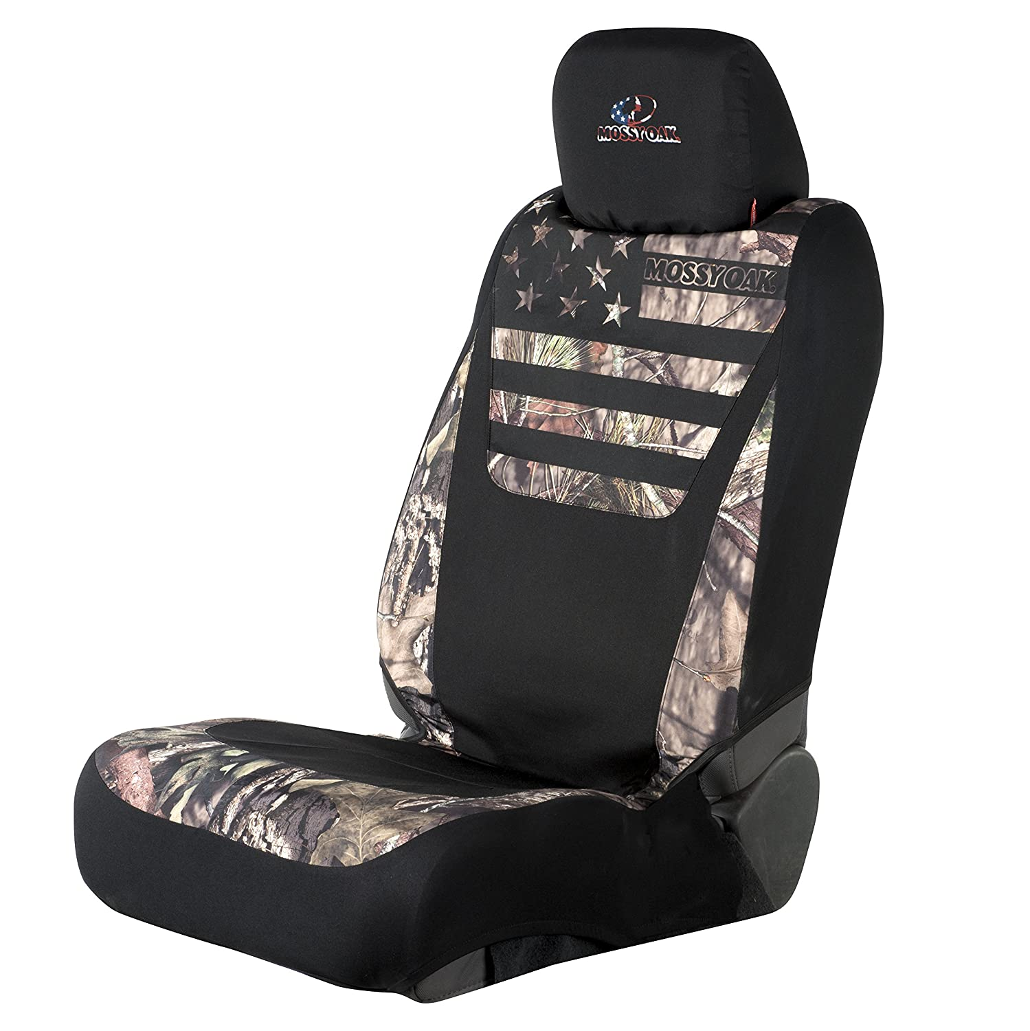 Mossy Oak Seat Covers >> Mossy Oak Low Back Camo Seat Cover Country Stripes Single