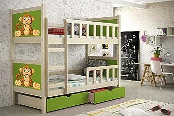 Etagenbett Mit Babybett : Etagenbett aus kieferholz cm lackiert babybett