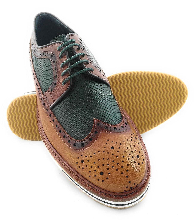 Zerimar Lederschuh Schuhe fuuml;r Herren Schuhe Elegant Herren Lederschuhe Casual Echter Leder Schuh fuuml;r Mann Bequeme Schuhe Man  40 EU|Leder Gr眉n