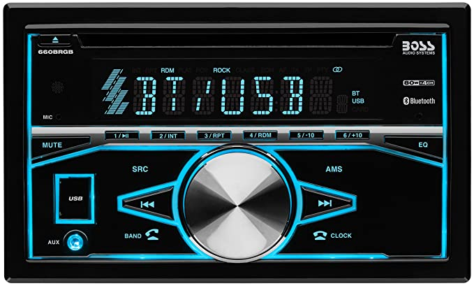 BOSS Audio Elite 660BRGB Car Stereo – Double Din, Bluetooth Audio and  Calling, MP3 Player, CD, USB Port, AUX Input, AM/FM Radio Receiver, Multi