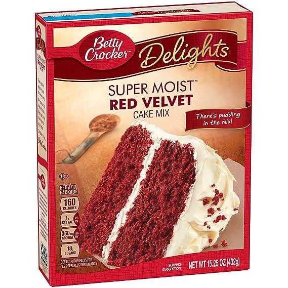 Betty Crocker Red Velvet Cake Mix 432g 15oz Amazoncouk Grocery