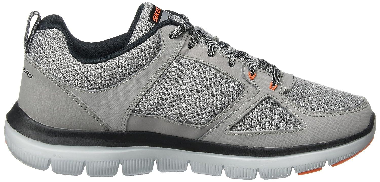 Skechers Point Herren Flex Advantage 2.0-Golden Point Skechers Sneaker Grau (Light Gray/Orange) d07cc0