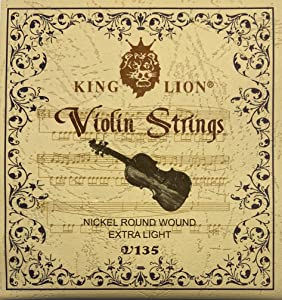 Violin and Fiddle Strings, Full Size, Nickel Material, Extra Light, Vibrant and Bright