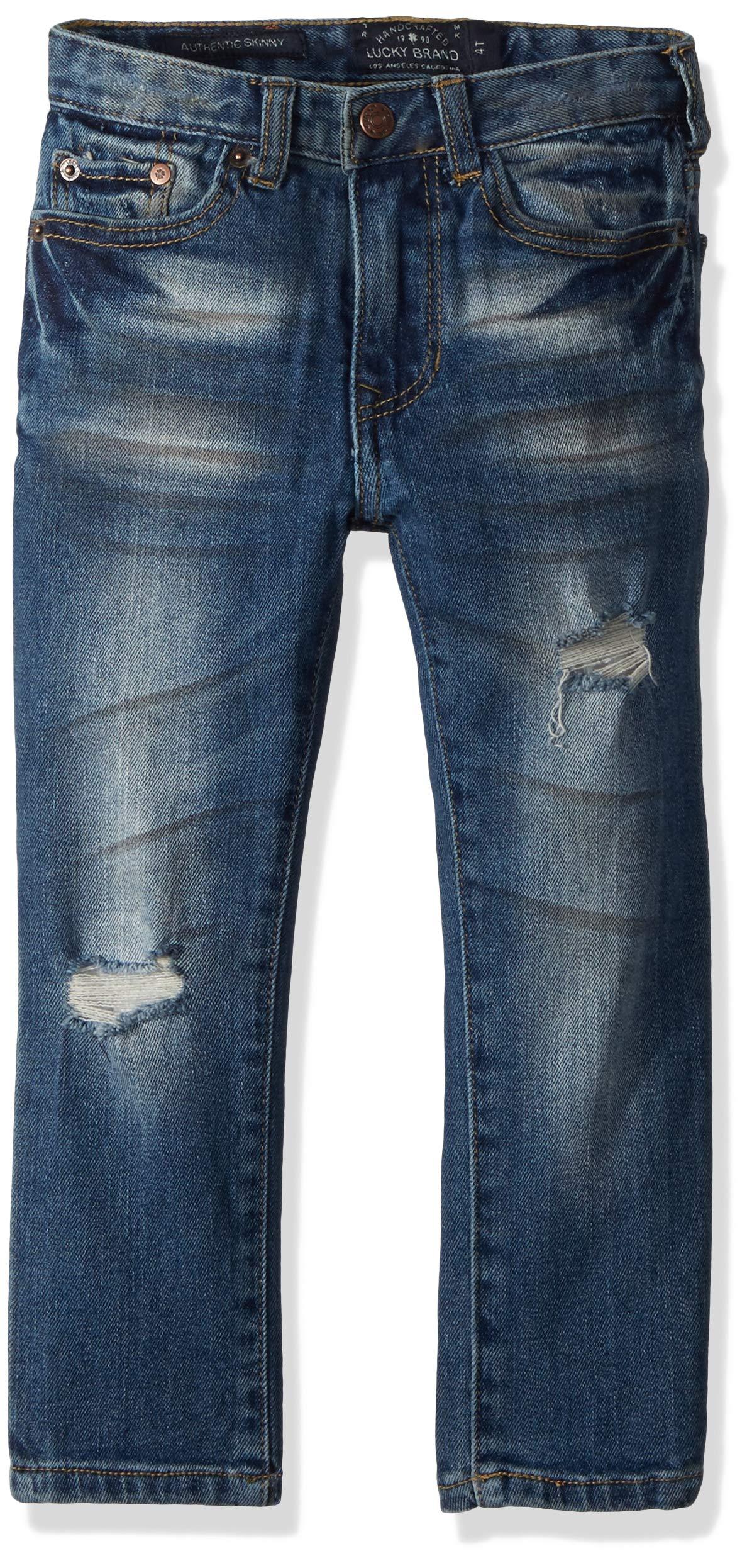 Lucky Brand Big Boys' 5-Pocket Skinny Fit Denim Jean, Tuxedo Rex, 12