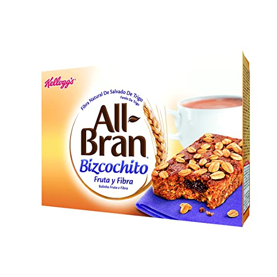 All-Bran - Bizcochito 40 gr - Pack de 6 (Total 240 grams)