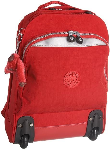 Kipling - Bolso mochila para mujer Rojo rojo