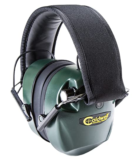 967cc446332e Amazon.com   Caldwell E-Max Electronic 25 NRR Hearing Protection with Sound  Amplification and Adjustable Earmuffs for Shooting