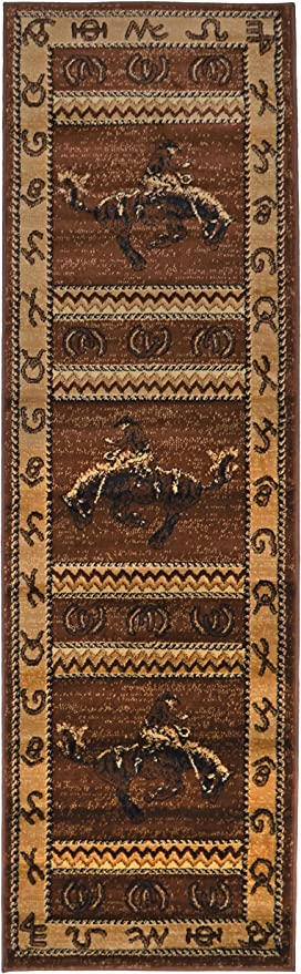 Amazon Com Rugs 4 Less Collection Cowboy Horse Western