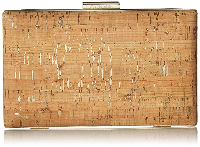9dae77dce6d Calvin Klein womens Calvin Klein Novelty Cork Box Clutch, natural cork, One  Size