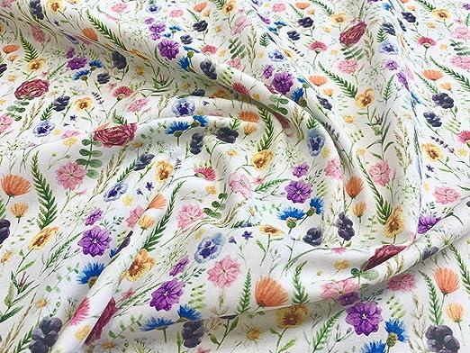 100/% tissu de coton John Louden Bright Buttercups Floral Champ largeur 150 cm