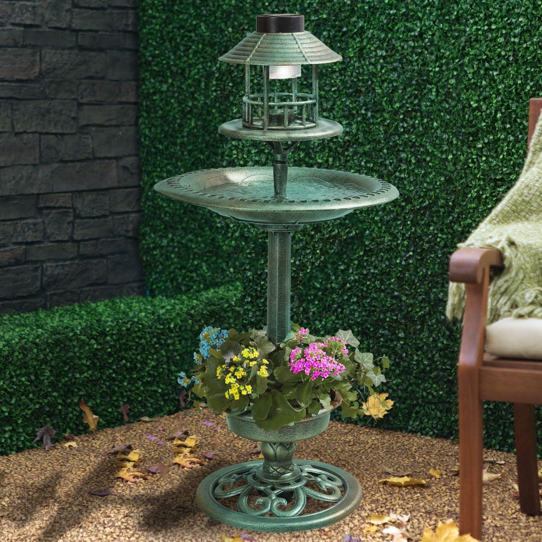 Verde Cobre Efecto Solar Baño Para Pájaros & Mesa Pájaro Hotel: Amazon.es: Productos para mascotas