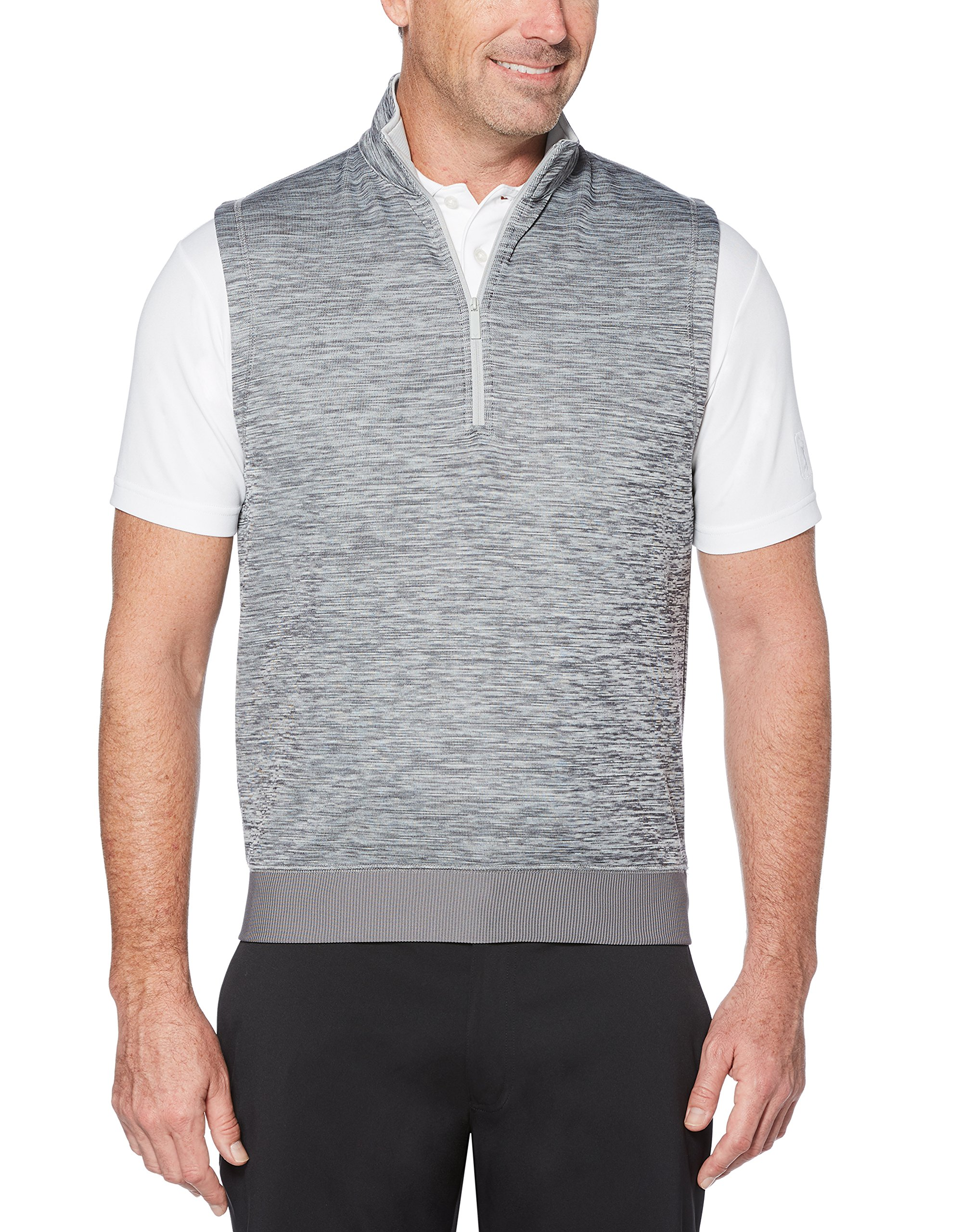 Callaway Men's Water Repellent 1/4 Zip Golf Vest, Medium Grey Heather, Medium by Callaway