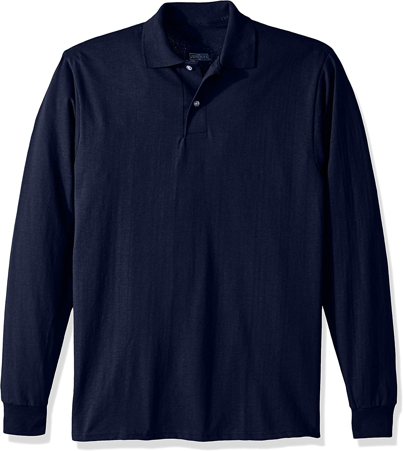 Jerzees Men's SpotShield Stain Resistant Polo Shirts (Short & Long Sleeve) at  Men's Clothing store