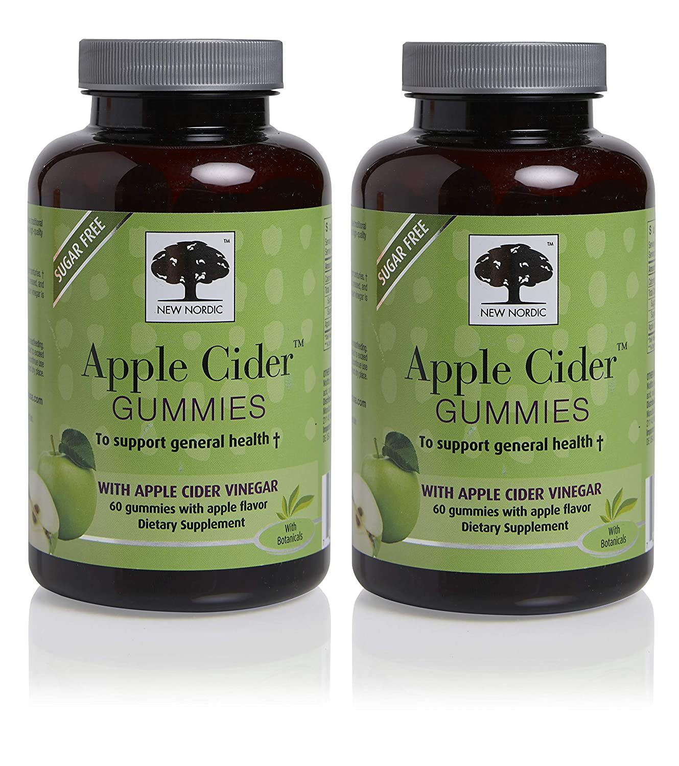 New Nordic Apple Cider Gummies, 60 Count Pack of 2