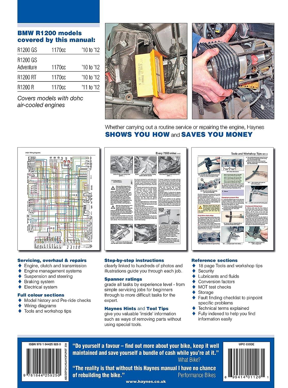 2010-2012 BMW R1200 GS R RT HAYNES REPAIR MANUAL, Diagnostic & Test Tools -  Amazon Canada