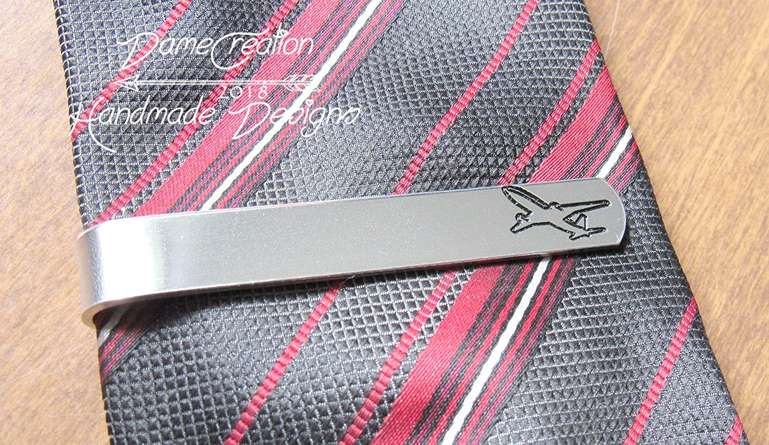 Airplane Tie Clip, Airplane Gifts, Custom Tie Clip, Personalized Tie Bar, Christmas Gifts for Boyfriend
