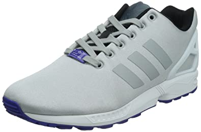 sports shoes 662e0 18b96 adidas ZX FLUX, Herren Sneakers, Grau (CLONIXCLONIXFTWWHT),