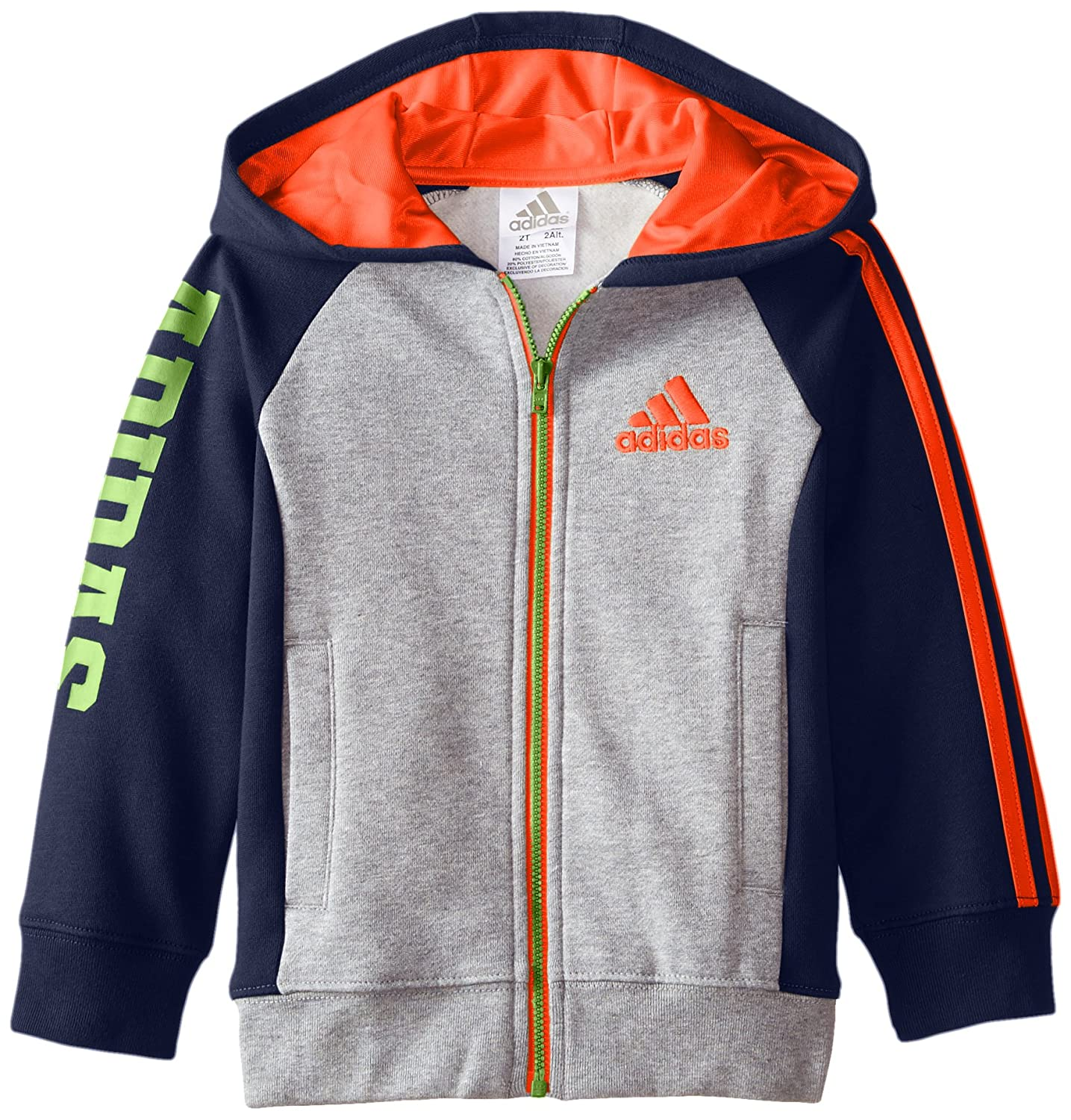 adidas Boys' Activewear Zip Up Hoodie 2T 1215807
