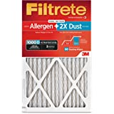Filtrete Micro Allergen PLUS DUST HVAC Air Filter, Delivers Cleaner Air Throughout Your Home, MPR 1000D, 16 x 25 x 1, 2-Pack
