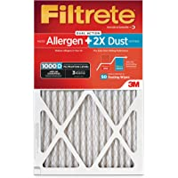 Filtrete MPR 1000D 20 x 25 x 1 Micro Allergen PLUS DUST AC Furnace Air Filter, Guaranteed Airflow up to 90 days, 2-Pack