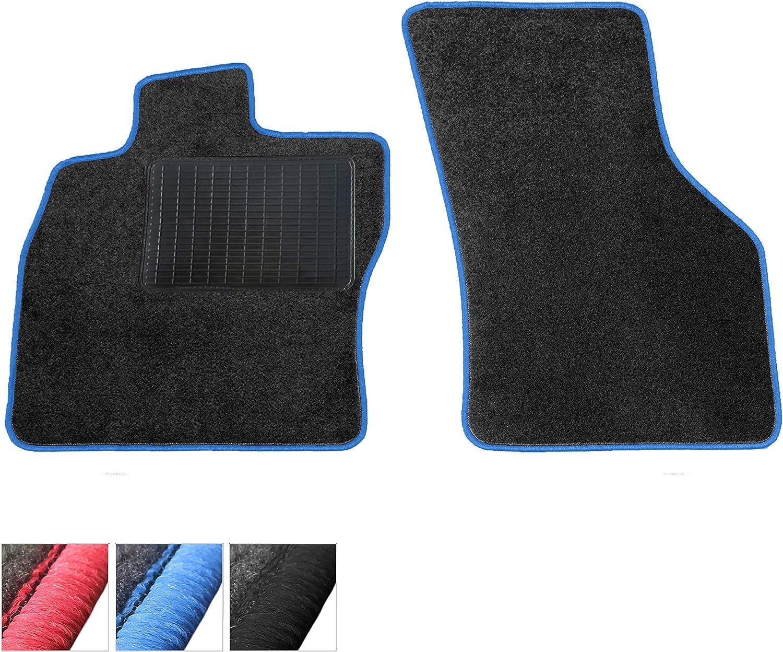Moto Moltico Fußmatten Auto Velours Autoteppiche Schwarz Automatten Set 2 Teilig Passend Für Mercedes Benz Slk R171 2004 2011 Blaue Ziernähte Auto