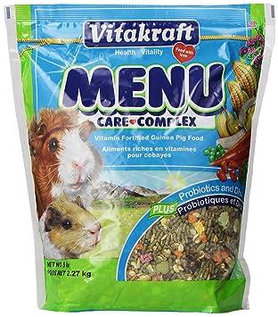 VITAKRAFT Menu Vitamina fortificada Guinea Pig Alimentación, 5 LB.