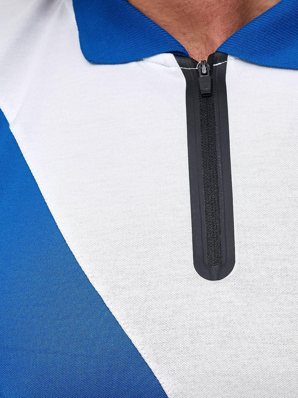 OneRedox Herren Short-Jogginganzug Shortanzug Sportanzug Short T-Shirt Modell 12101 Blau Weiss XS
