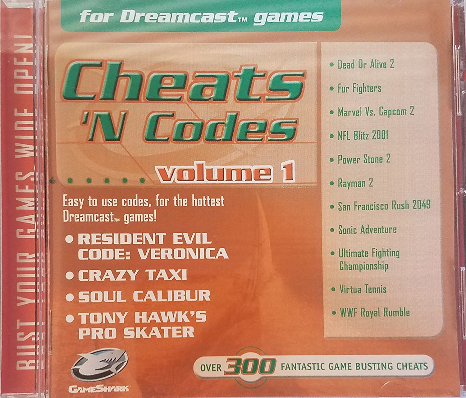 Import Enabler for PAL and Japanese Games & Game Shark Cheats 'N Codes for Sega Dreamcast Games: Video Games