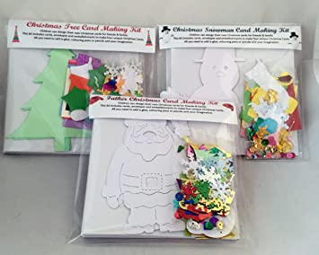 Children\'s Christmas Card Making Pack, makes 12 unique personalised ...