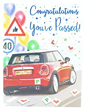 You/'ve Passed Your Driving Test Teddy Driving Test Congratulations Card