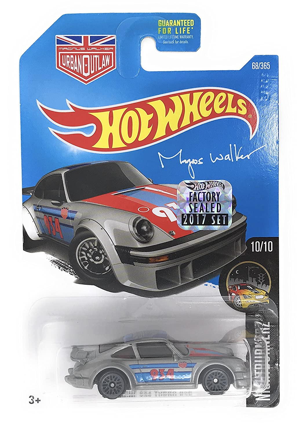 Hot Wheels 2017 Night Burnerz Magnus Walker Porsche 934 Turbo RSR 68 365 Silver