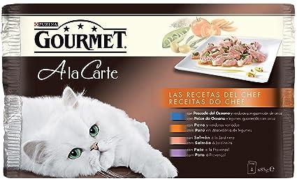 Purina Gourmet a la Carte Recetas del Chef en Salsa comida para gatos Surtido Carne y